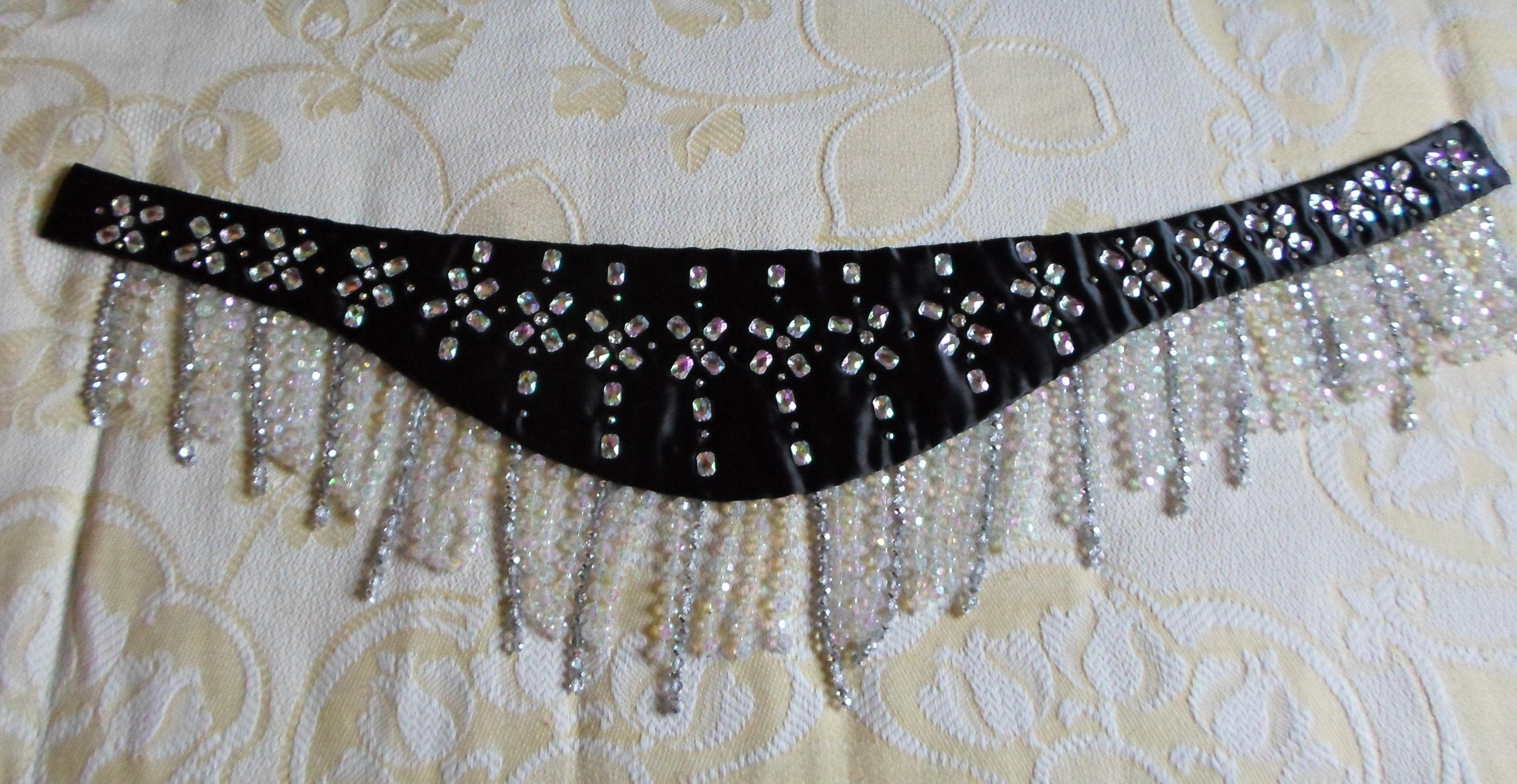 one-piece beaded bellydance belt