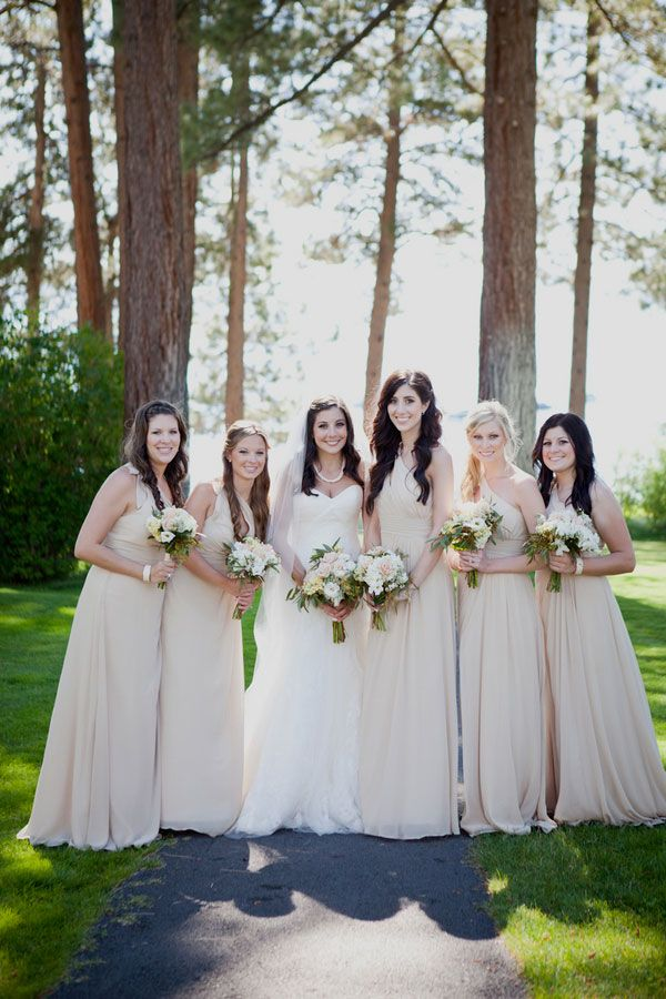 Soft Romantic Vintage Lake Tahoe Wedding