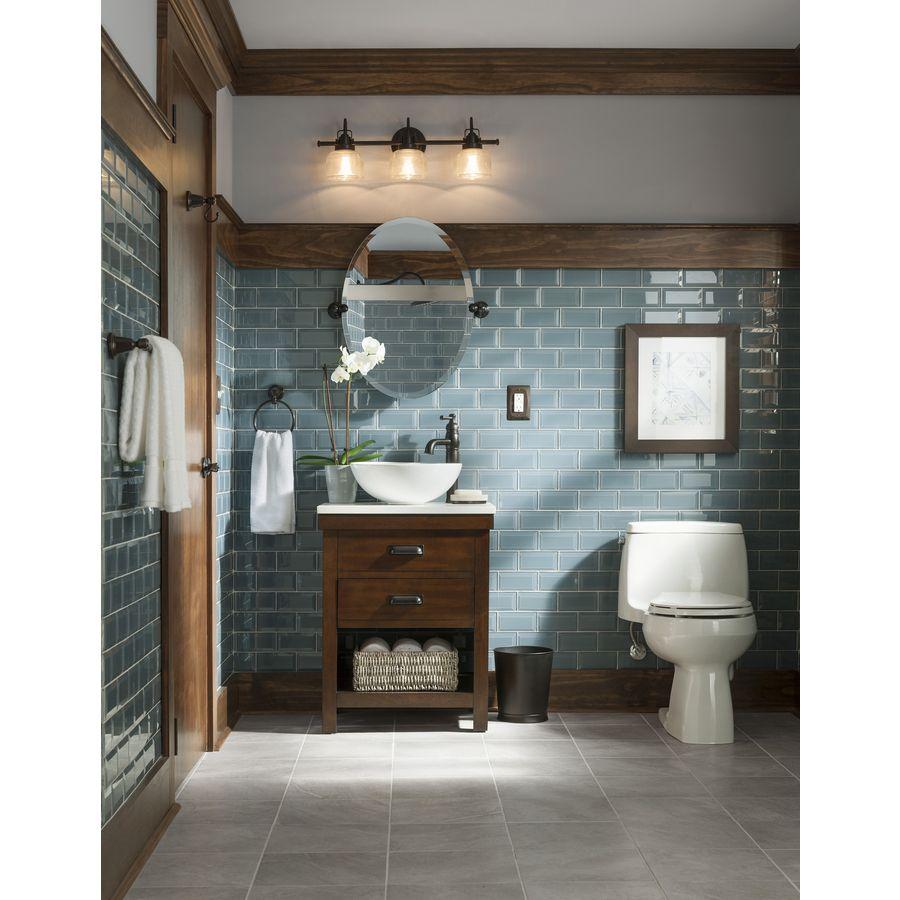Shop Allen Roth Cromlee Bark Vessel Poplar Bathroom Vanity With Engineered Stone Top Faucet