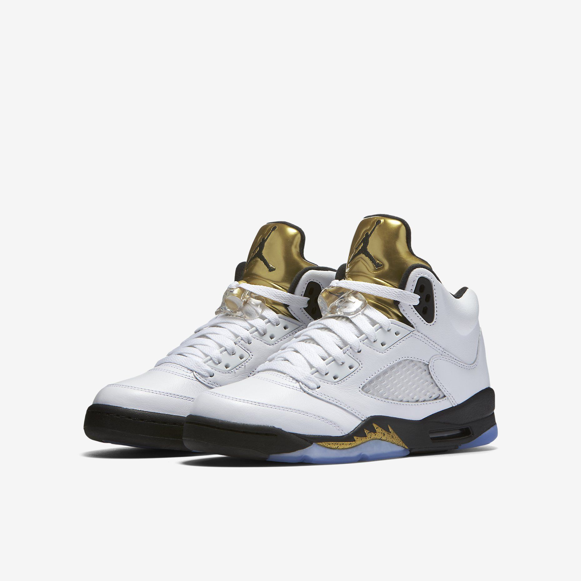 hot sale online e1ff3 f2f97 Air Jordan 5 Retro - White Metallic Gold Coin Black