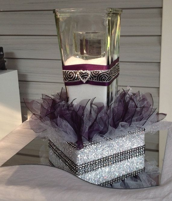 Elegant Wedding Table Centerpiece~Rhinestone Bing Vase