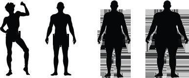 احسبى وزنك المثالى بمجرد تسجيل سنك وطولك لتظهر لك النتيجة اونلاين Human Silhouette Human Silhouette