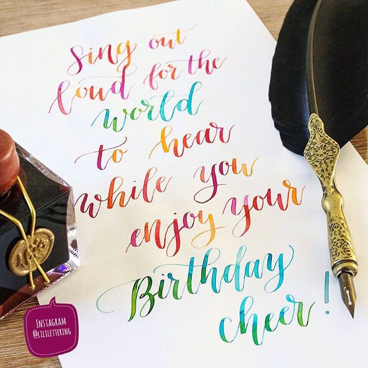 Happy Birthday Wish I Handlettered For A Friend On