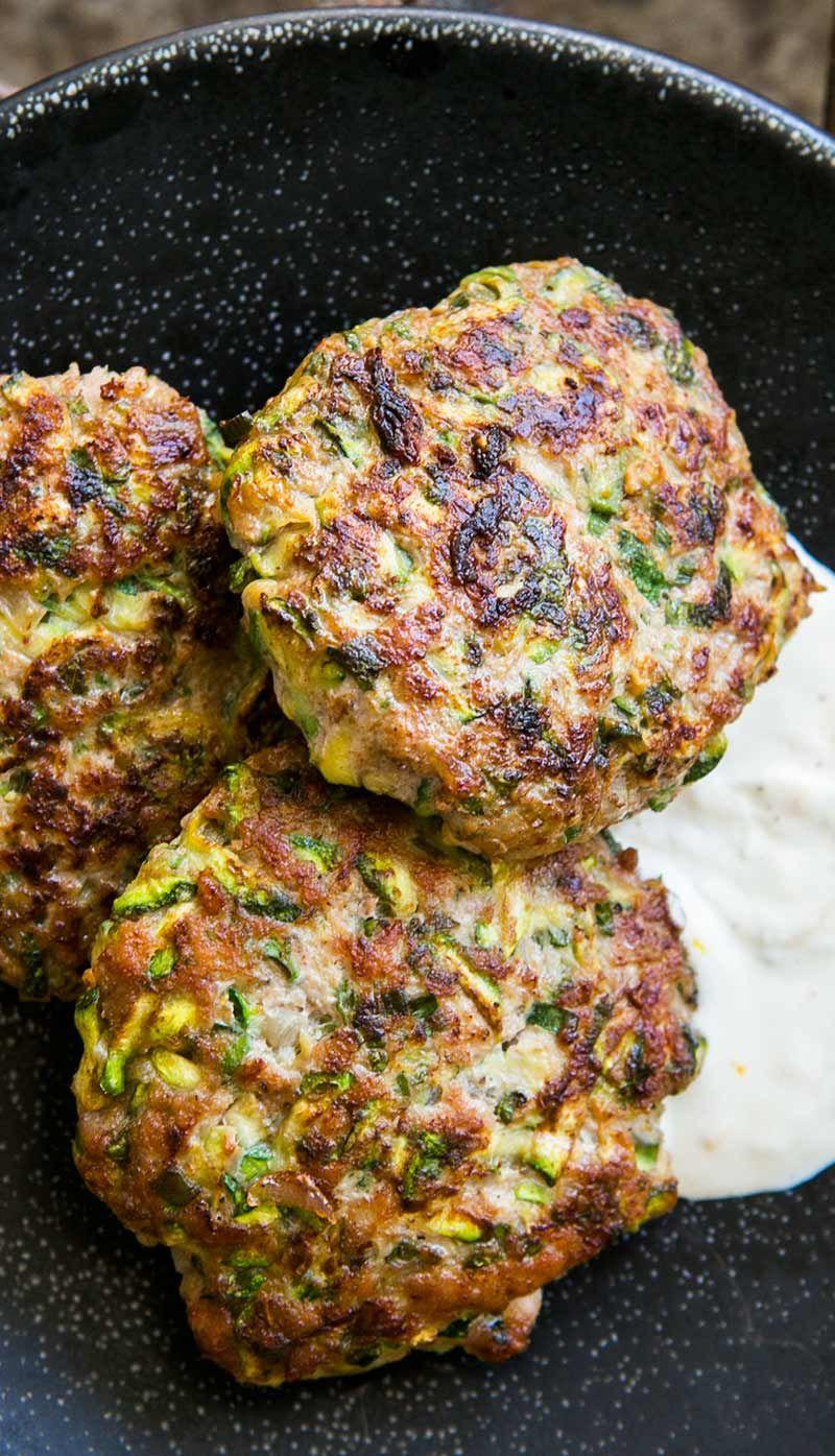 Spicy Turkey and Zucchini Burger Recipe | SimplyRecipes.com