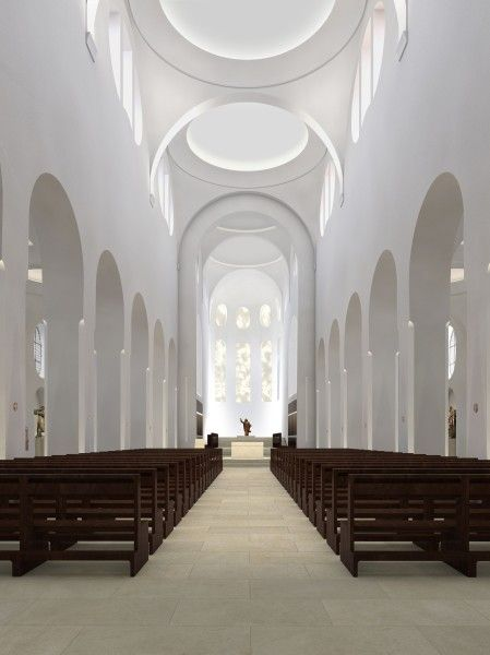 church wedding #wedding Interior reconstruction of the St. Moriz church by John Pawson