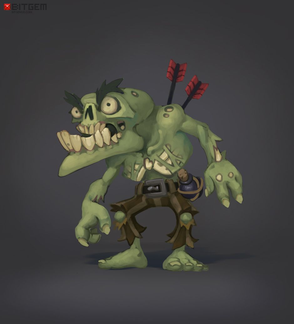 Zombie Grunt. This concept was also done by Arthur. The model is still in the works but coming soon! :)