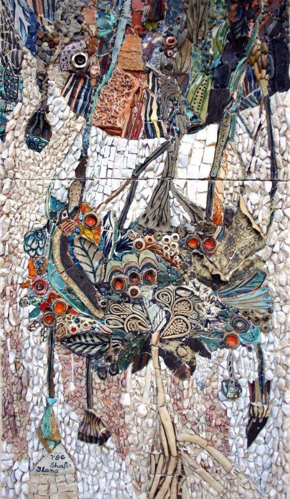 TST Mosaic Murals Sunflower Van Gogh Oil Painting Fire