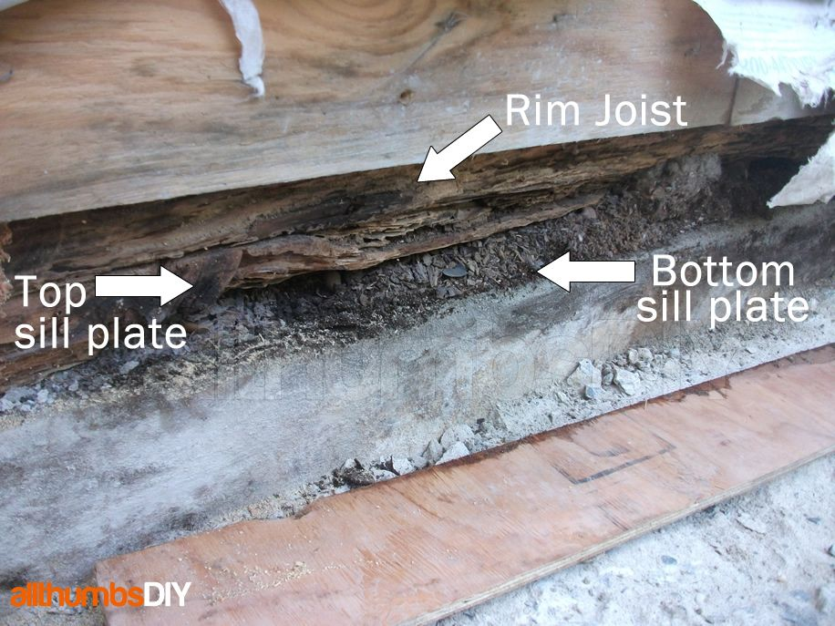 How I Replaced A Rotted Rim Joist And Sill Plates Part 4 Of 4 Home Repair Home Repairs Plates Diy