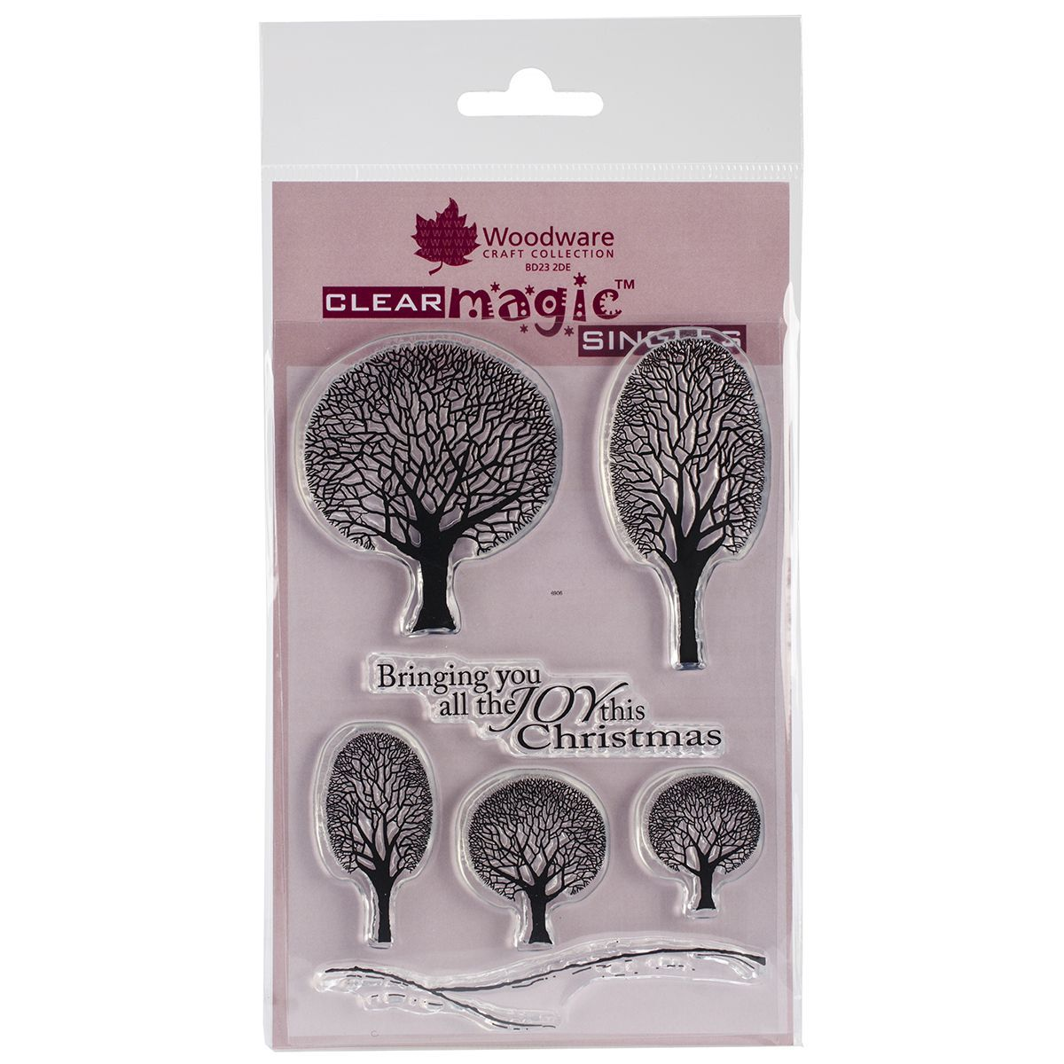 """Craft Woodware Clear Stamps 5.5""""X3.5"""" Sheet-Winter Tree"""