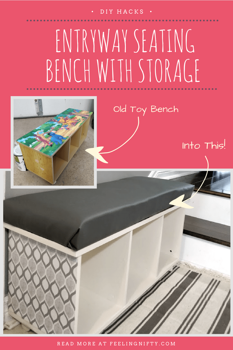 Diy Cubby Storage Made From Old Toy Shelf Diy Cubbies Storage Diy Storage Diy Storage Bench