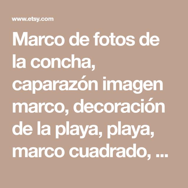 Marco de fotos de la concha, caparazón imagen marco, decoración de ...