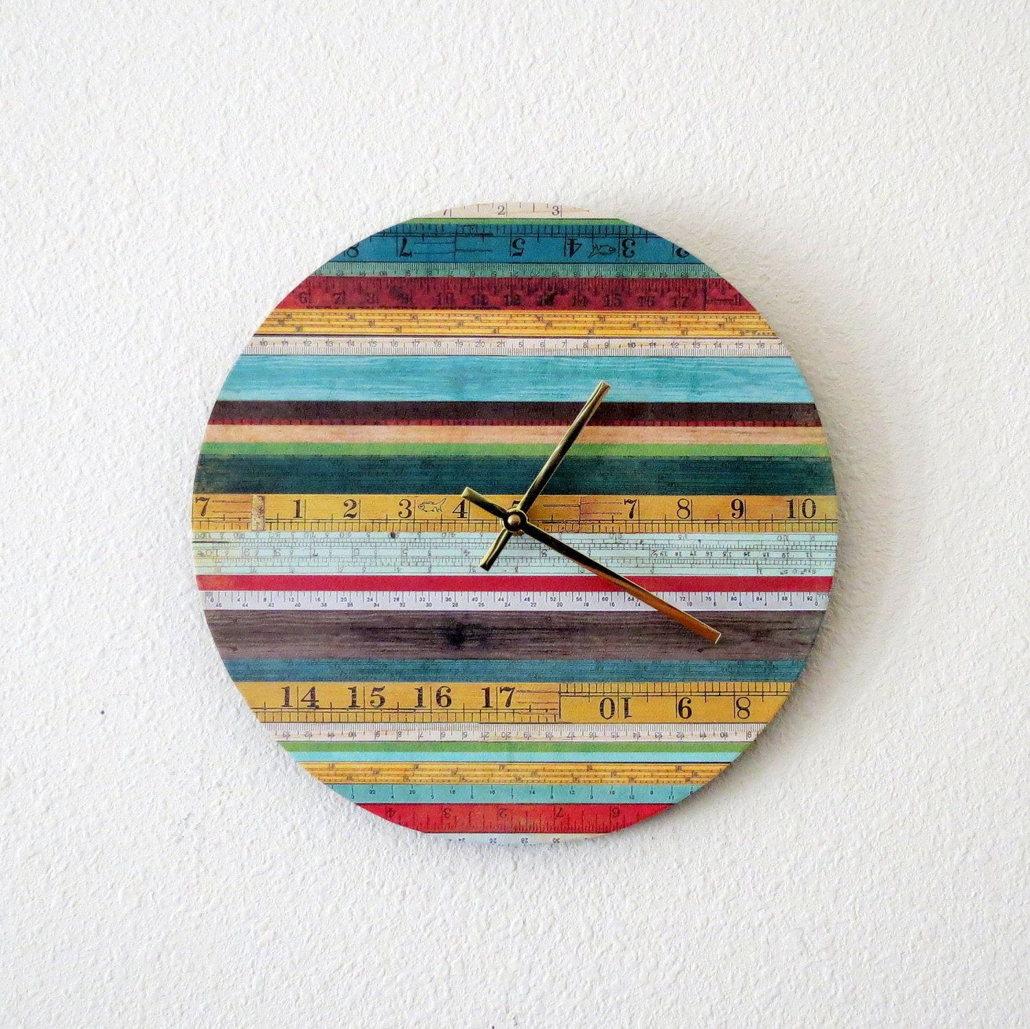 Unique Wall Clock Home Decor Decor and Housewares by Shannybeebo, $47.00