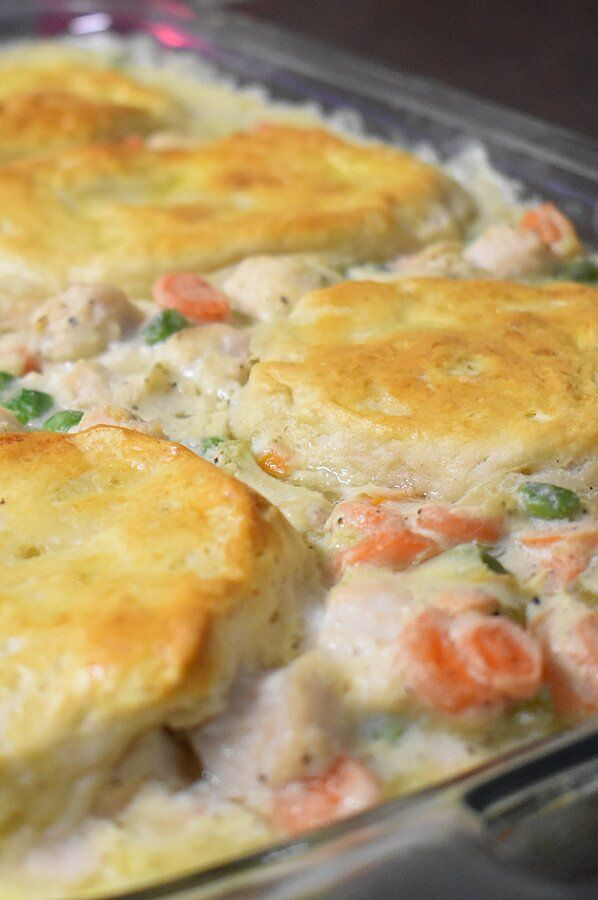 Photo of Mom's Fabulous Chicken Pot Pie with Biscuit Crust