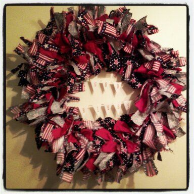My rag wreath!