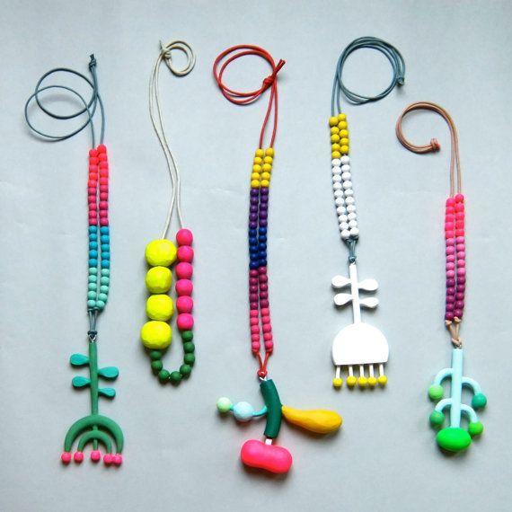 wooden necklace van pipapiep op Etsy