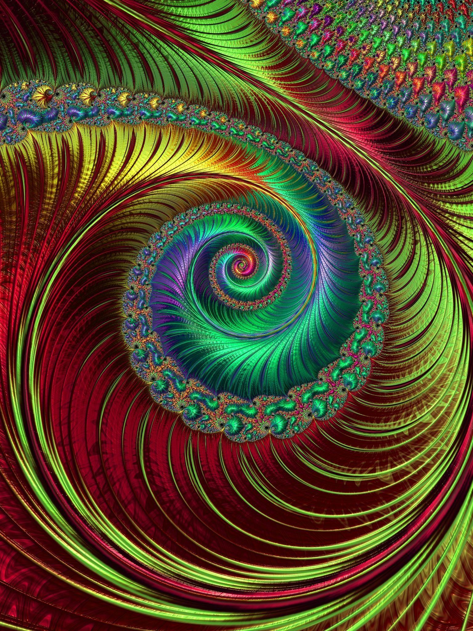 Spirals Fractal Art