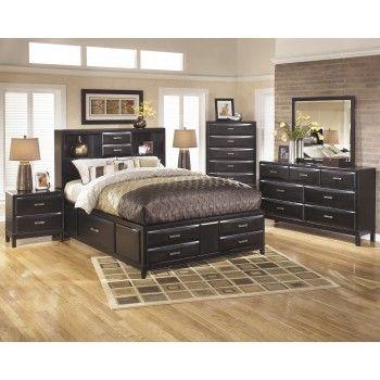 Kira 5 Pc Bedroom - Dresser, Mirror  Queen Bed with Storage