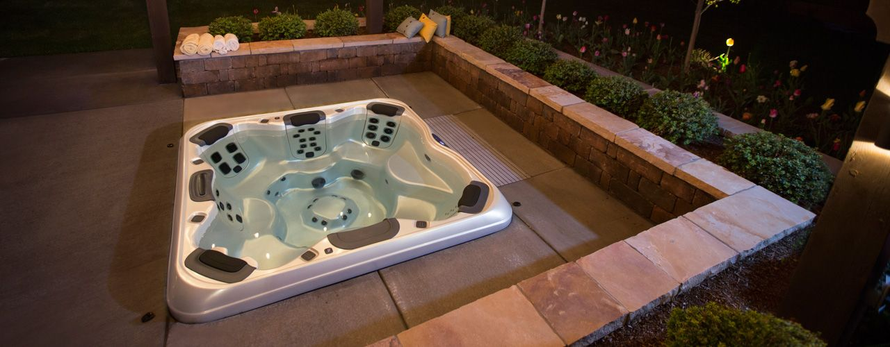 In Ground Hot Tub Amp Spa Kit Built In Spas Back Of