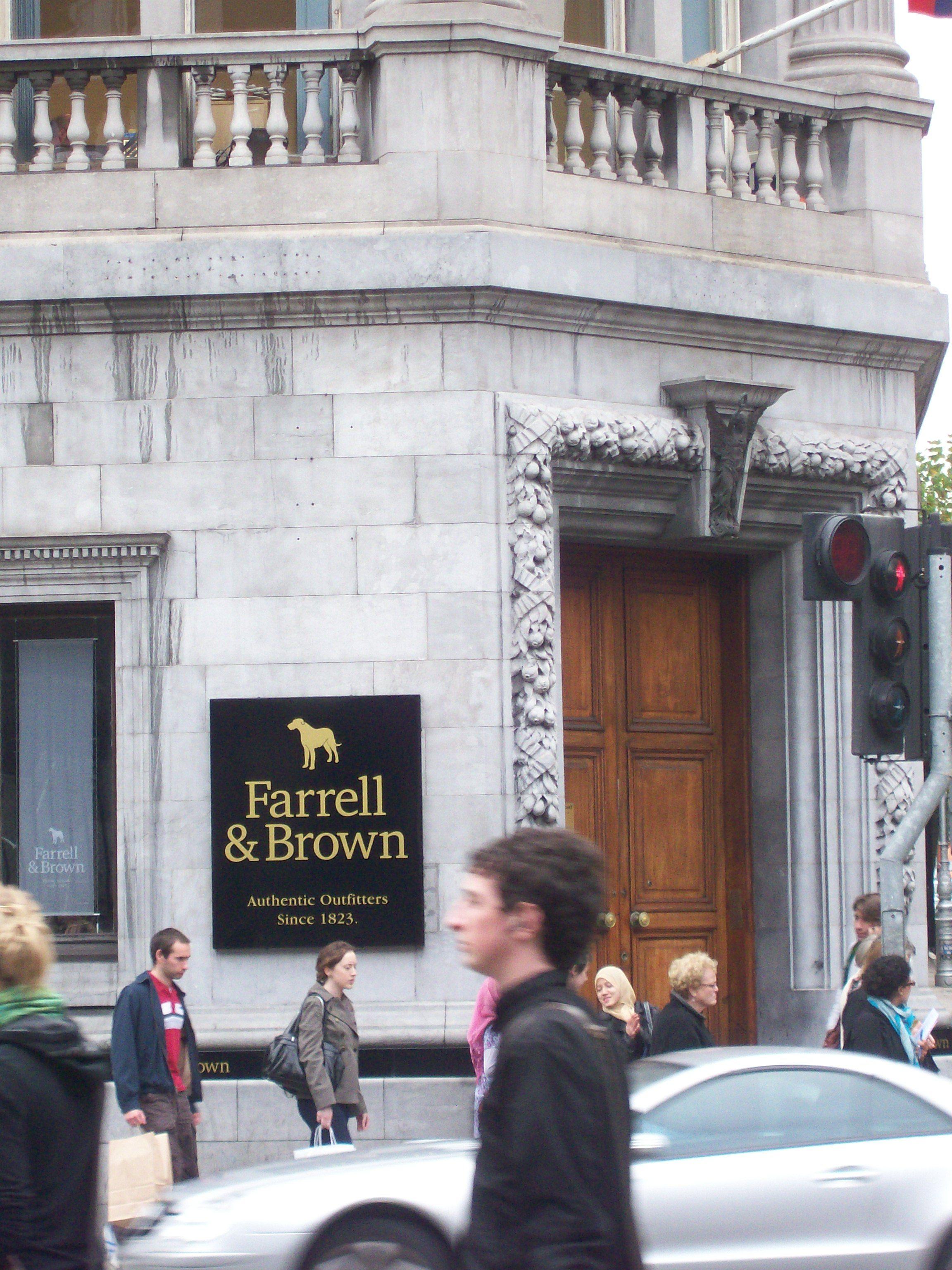 Dublin department store - Farrell & Brown Irish wolfhound logo!