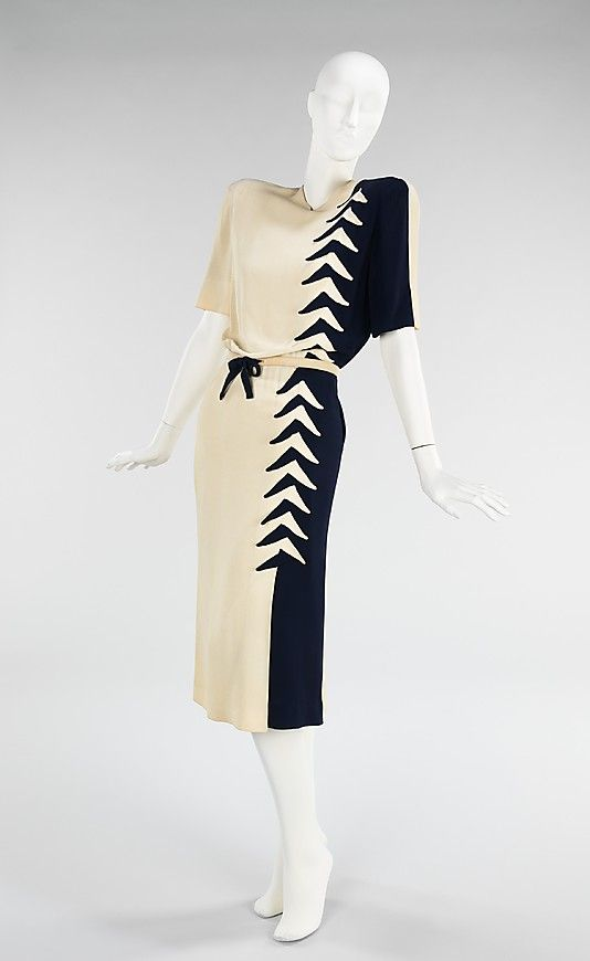 e754b82bf020 Dress Mme. Eta Hentz (American, born Hungary) Date: spring/summer 1944  Culture: American Medium: synthetic Dimensions: Length at CB (a): 47 in.