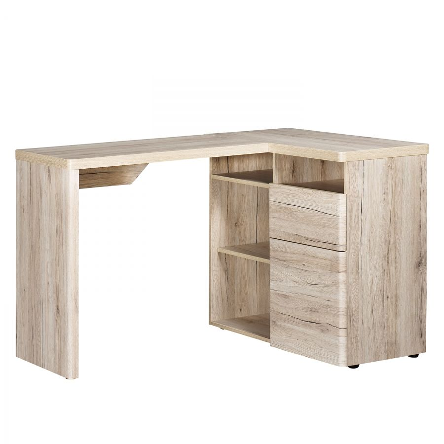 Bureau D Angle Cu Libre 130 Imitation Chene De Sanremo Desk Corner Writing Desk Corner Desk