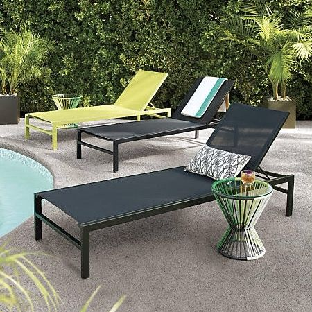 Minimalist Outdoor Reclining Chaise Lounge Basks In Sleek Black On Black And A Minimal Pric Pool Patio Furniture Modern Outdoor Furniture Outdoor Chaise Lounge