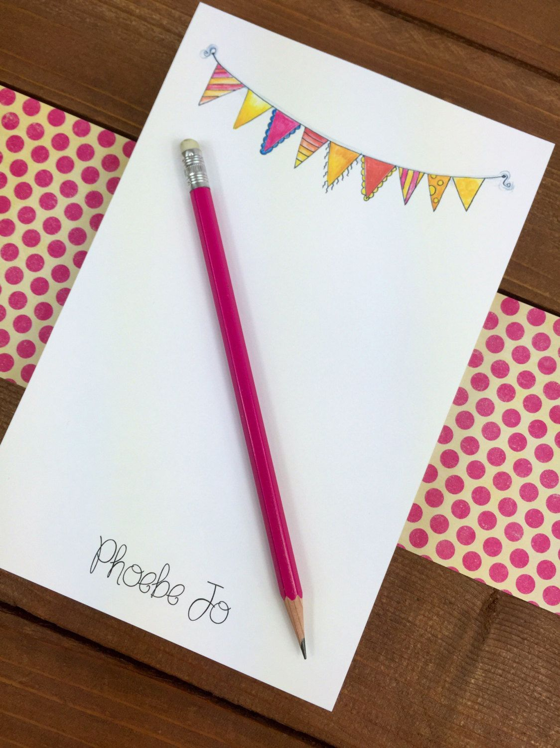 Prime Bunting Personalized Notepad Personalized Note Pads Download Free Architecture Designs Terchretrmadebymaigaardcom