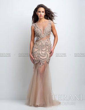 6a1cb2a08 Vestido de festa longo em tule illusione Terani : Dstore, As Melhores  Grifes dos EUA - Site Oficial
