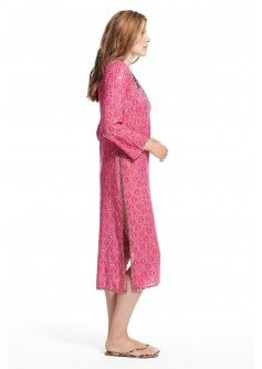 Aditi Hand Beaded Cotton Gauze Caftan