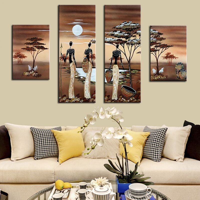 Pin By Julie Ann Seidl On Afrocentric Home Decor Living Room Canvas Art Living Room Canvas African Decor