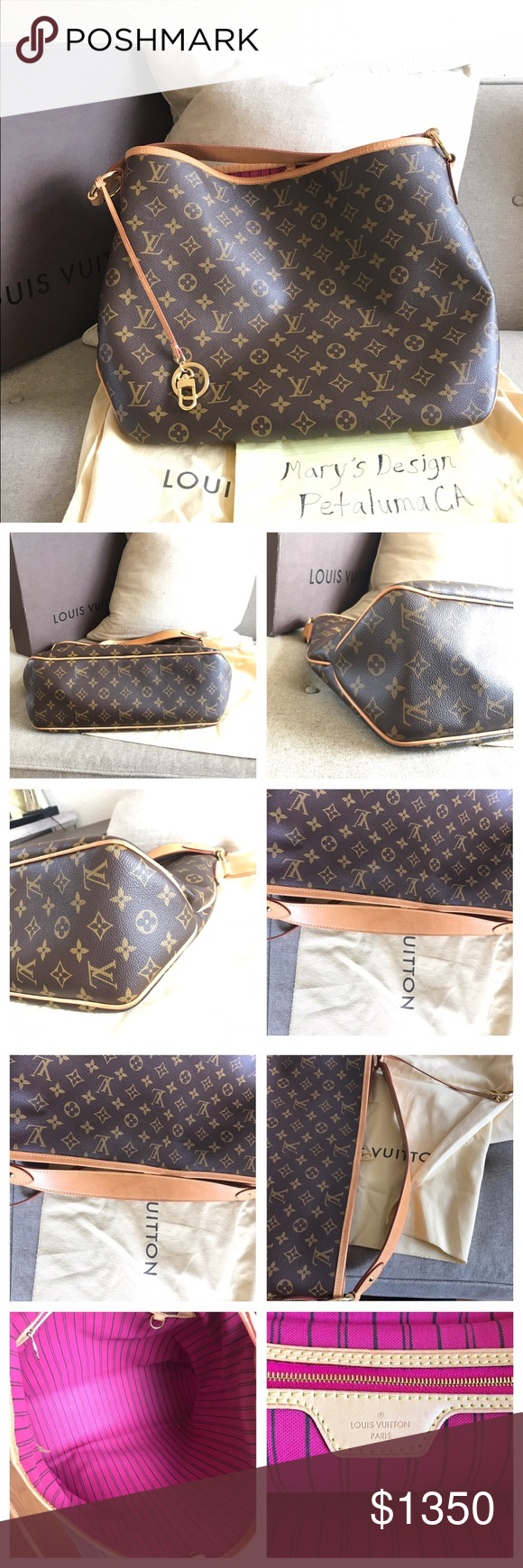 8755bdc9bd5d Authentic Louis Vuitton Delightful Mm Mono Piovine Authentic Louis Vuitton  Delightful Mm Monogram in very good
