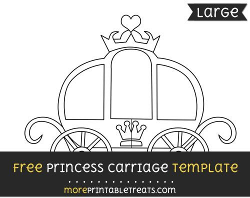 Free Princess Carriage Template Large Shapes And