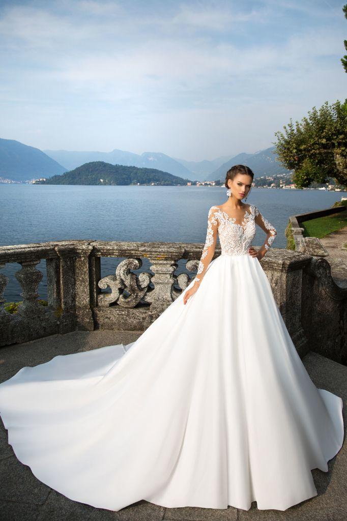 Djanet - White Desire - MillaNova Delightful Djanet wedding gown is ...