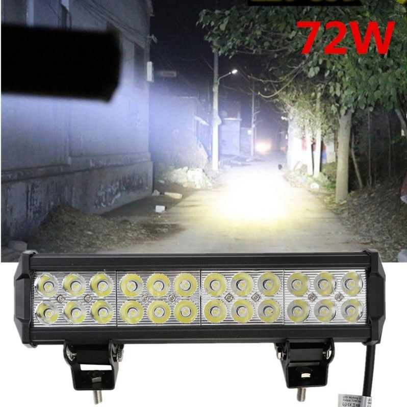 12 Inch 5700lm 72w Led Light Bar Offroad Truck Trailer 4x4 Bar Lighting Offroad Car Lights