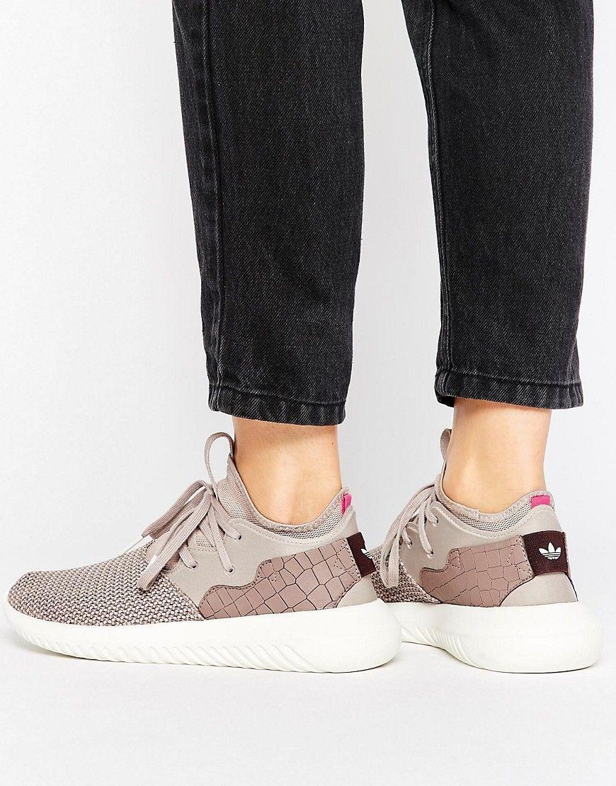 low priced 50e79 de3cc ADIDAS ORIGINALS ADIDAS ORIGINALS DUSKY PURPLE TUBULAR ENTRAP SNEAKERS -  GRAY.  adidasoriginals  shoes