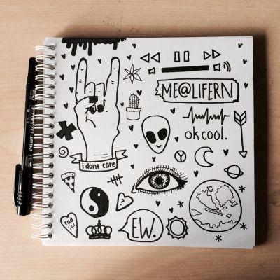 grunge doodles tumblr art pinterest zeichnungen zeichnen und kritzeleien. Black Bedroom Furniture Sets. Home Design Ideas