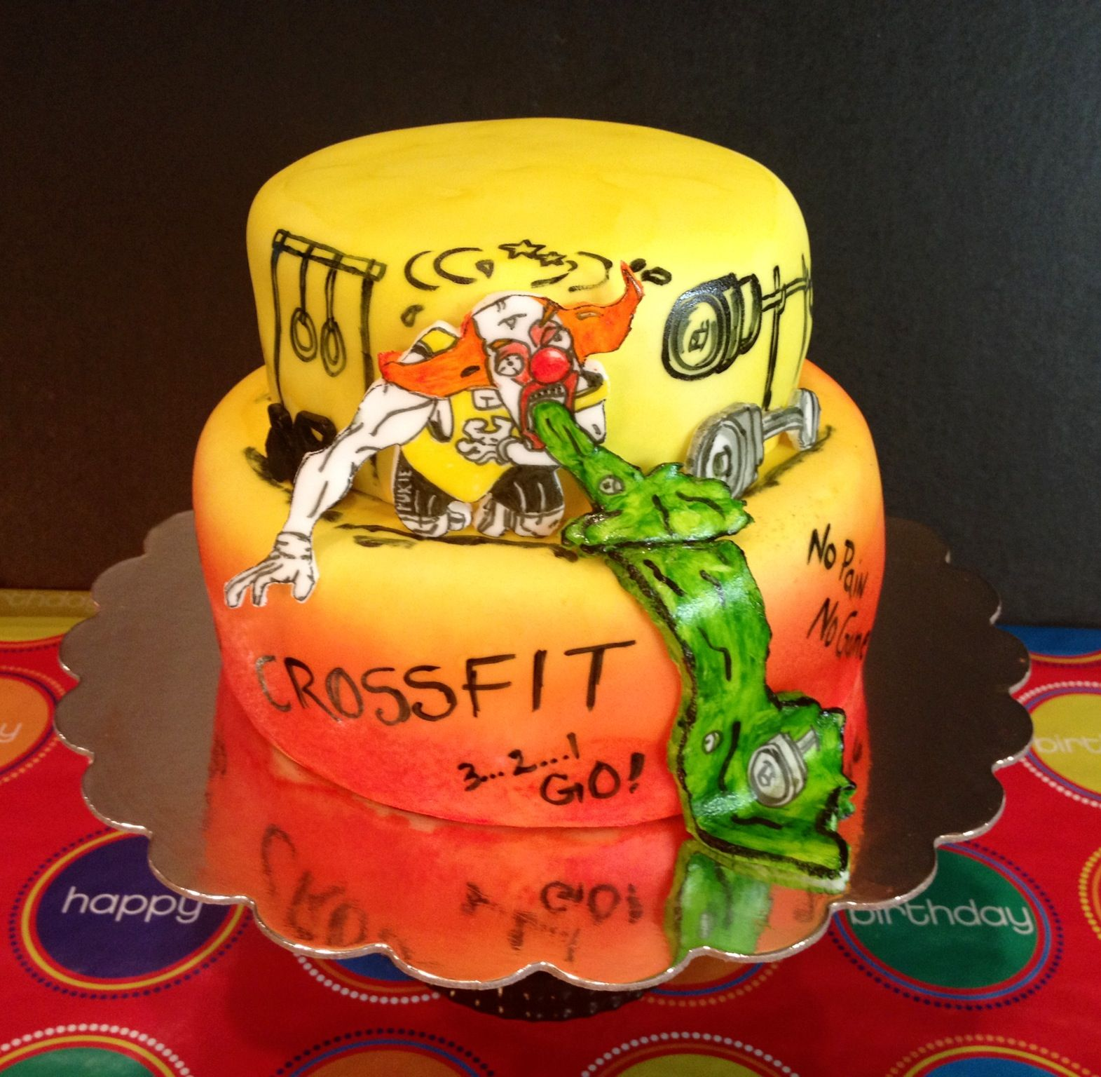 CrossFit Themed Cake by T.Hawkins   Cakes by T (Sharing my fondant ...