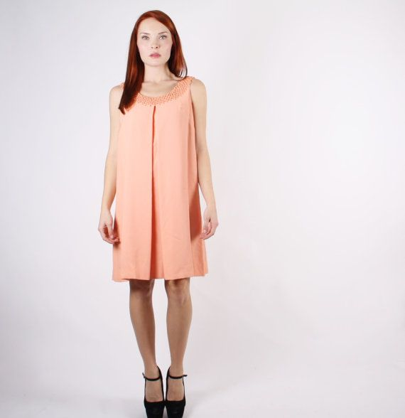 1960s Apricot Tent Dress   60s Tent Dress    The by aiseirigh