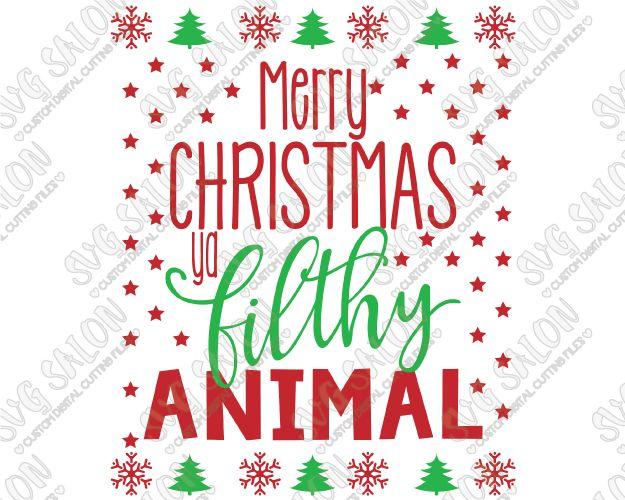 Merry Christmas Ya Filthy Animal Home Alone Christmas Custom DIY ...