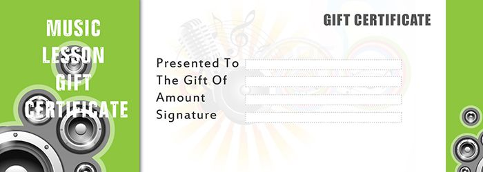 music lesson gift certificate template