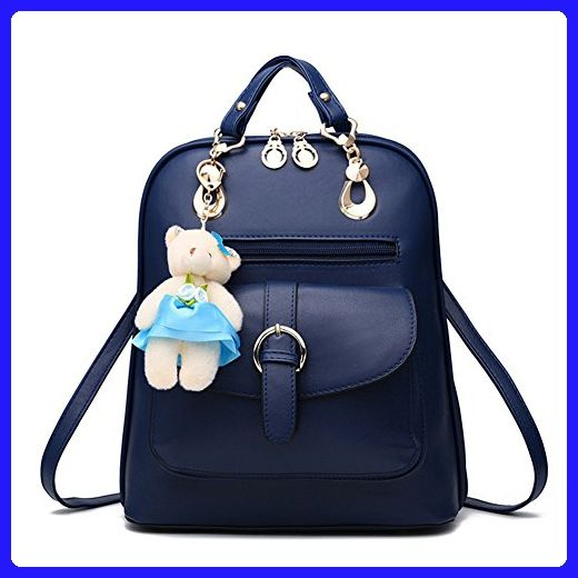 8658f5a8acb0 Hynbase Women Fashion Cute Korean Student Bag Leather Backpack Shoulder Bag  Blue - Crossbody bags ( Amazon Partner-Link)