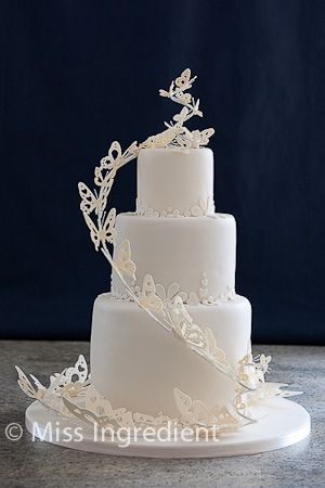 butterfly wedding cake via flickr