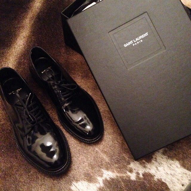 Saint Laurent Black Patent Brogues - By Something Navy