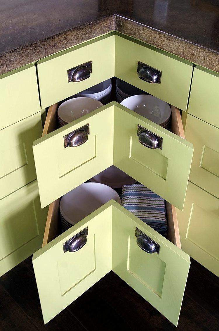 Armarios esquineros y soluciones de almacenaje originales | Estantes ...