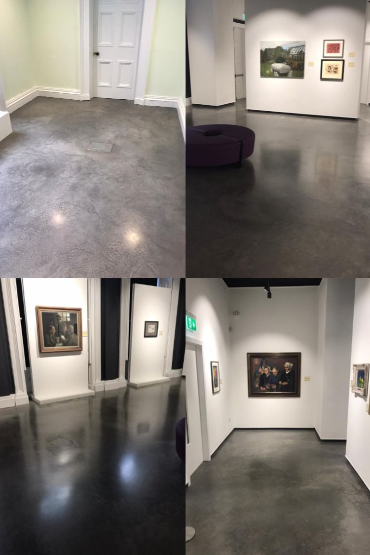 The Ultima polished concrete floor installed in a gallery