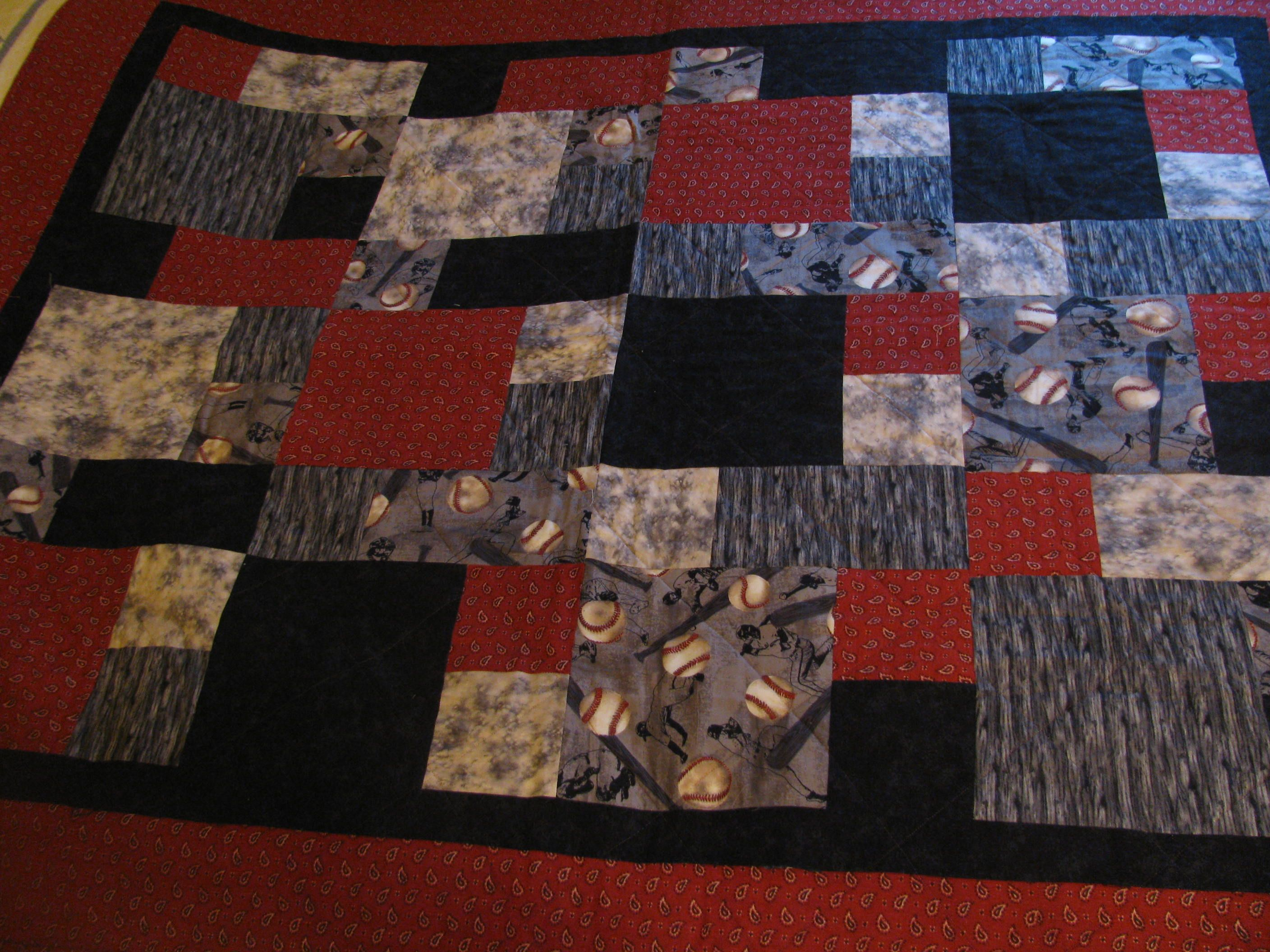 ISO baseball quilt ideas for adult quilt | Fun food | Pinterest ... : graduation quilt ideas - Adamdwight.com