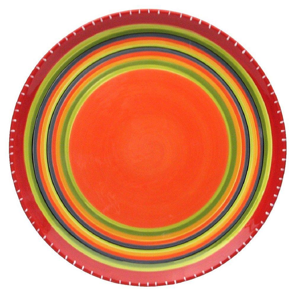 Set of 4 Assorted Designs Certified International Hot Tamale Dinner Plate