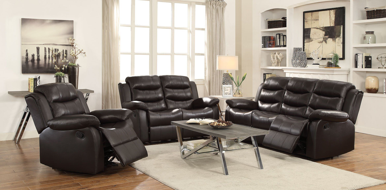 Furniture of america CM6540 2 pc Lila grey top grain leather match