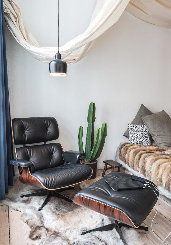 Classic Eames Chair Eames Lounge Chair Interior Bedroom Design