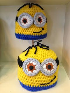 Creatief Besparen En Meer Minion Muts Haken Haken Crochet